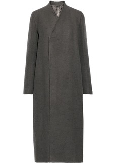 Rick Owens Woman Layered Camel And Linen-blend Coat Gray