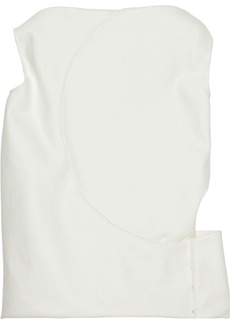 Rick Owens Woman Cutout Gathered Cotton Top White