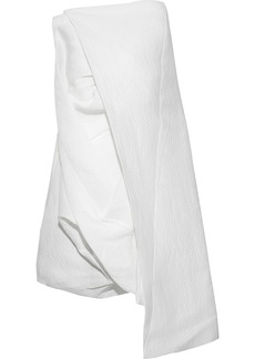 Rick Owens Woman Draped Paper-blend Cloqué Tunic White