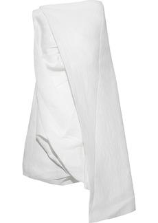 Rick Owens Woman Draped Paper-blend Cloqué Tunic White