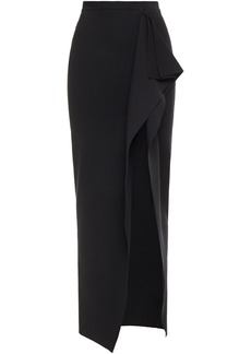 Rick Owens Woman Grace Split-front Draped Stretch-knit Maxi Skirt Black