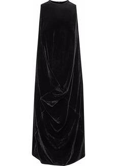 Rick Owens Woman Draped Velvet Dress Black