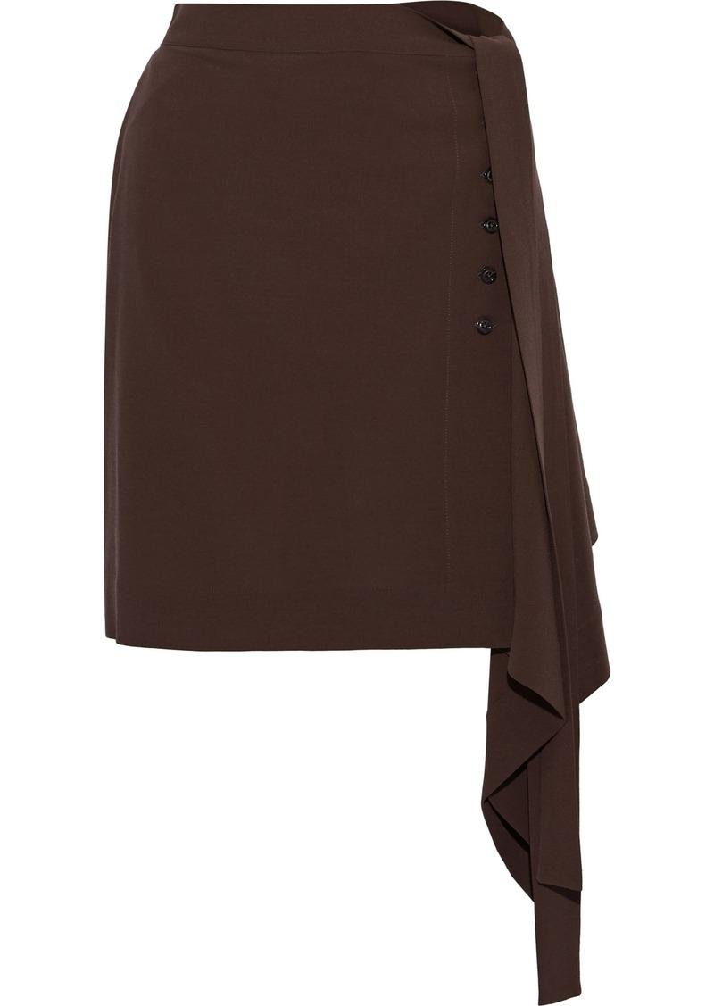 Rick Owens Woman Draped Wool Mini Skirt Grape