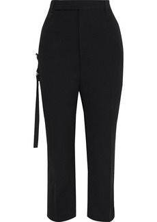 Rick Owens Woman Easy Astaires Cropped Wool-blend Crepe Straight-leg Pants Black