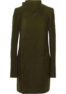 Rick Owens Woman Eileen Wool-felt Coat Dark Green