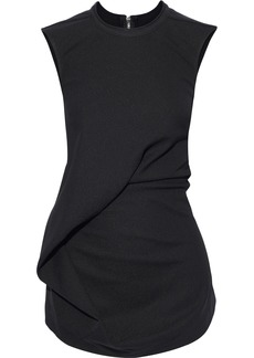 Rick Owens Woman Ellipse Gathered Cady Top Black