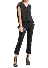 Rick Owens Woman Embellished Cady Top Black