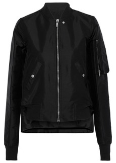 Rick Owens Woman Asymmetric Twill Bomber Jacket Black