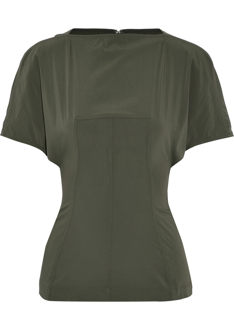 Rick Owens Woman Judith Stretch-wool Top Army Green