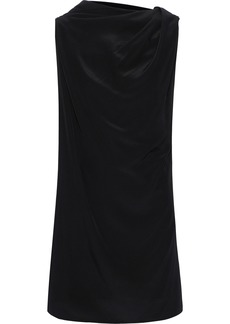 Rick Owens Woman Layered Silk Crepe De Chine Tunic Black
