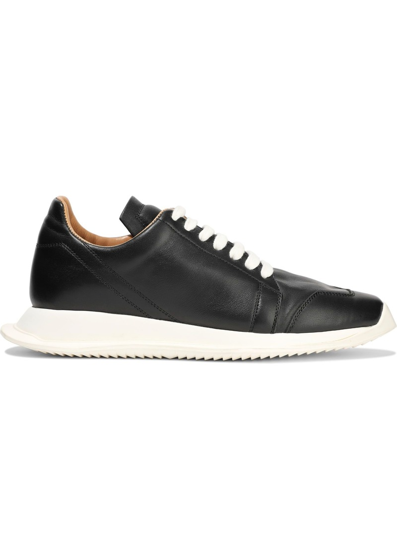 Rick Owens Woman Leather Sneakers Black