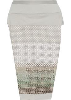 Rick Owens Woman Loin Split-side Sequin-embellished Cotton-jersey Skirt Light Gray