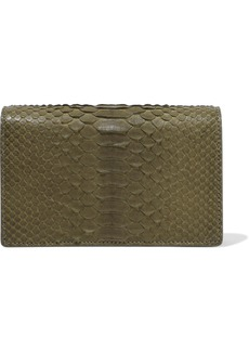 Rick Owens Woman Lunch Python Shoulder Bag Army Green