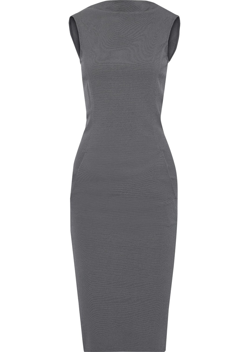 Rick Owens Woman Maria Cotton-blend Jersey Dress Anthracite