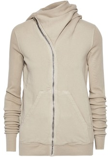 Rick Owens Woman Mountain Cotton-fleece Hoodie Neutral