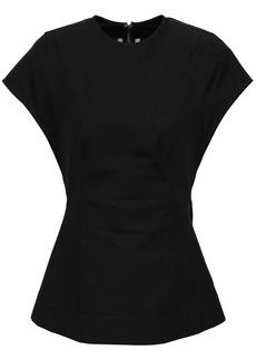 Rick Owens Woman Murmur Stretch-cotton Top Black