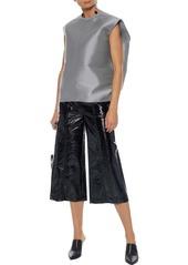 Rick Owens Woman Oversized Cotton-blend Taffeta Top Gray
