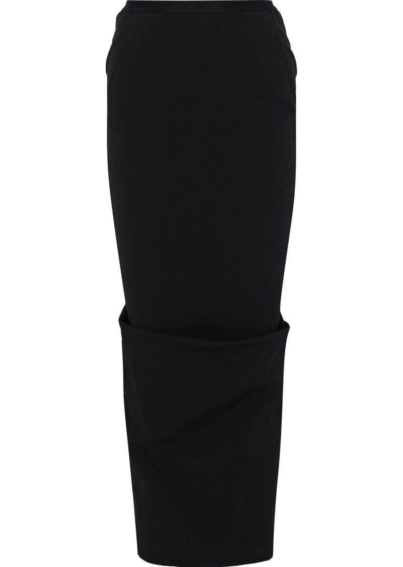 Rick Owens Woman Pillar Cotton-blend Jersey Maxi Pencil Skirt Black
