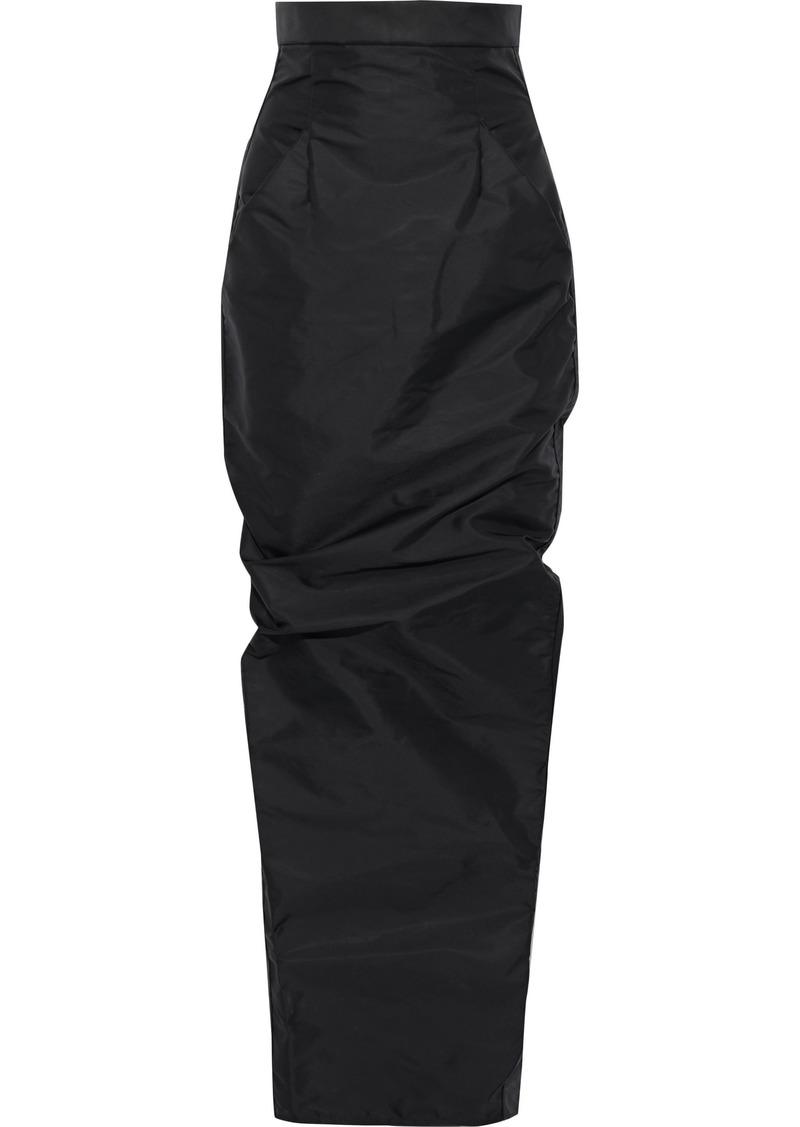 Rick Owens Woman Pillar Shell Maxi Pencil Skirt Black