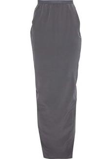 c46b22e88 Rick Owens Woman Pillar Split-back Silk Crepe De Chine Maxi Skirt Anthracite