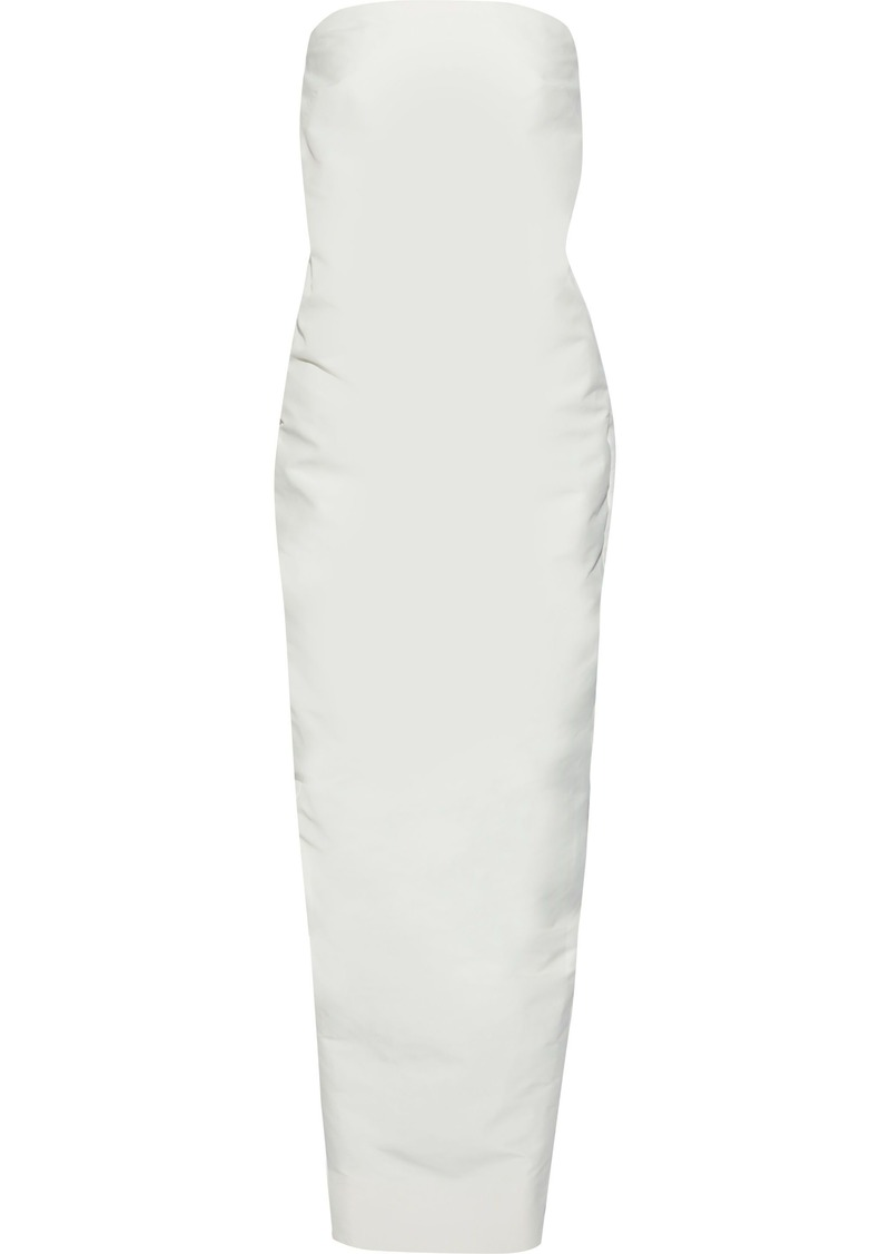 Rick Owens Woman Pistil Strapless Shell Gown Off-white
