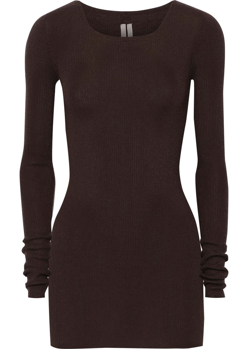 Rick Owens Woman Ribbed Cashmere Top Merlot