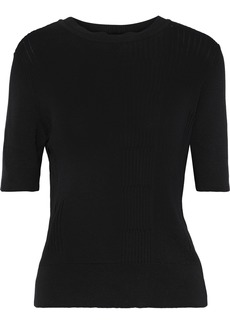 Rick Owens Woman Ribbed Cotton-blend Top Black