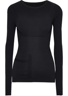 Rick Owens Woman Ribbed Jersey Top Black