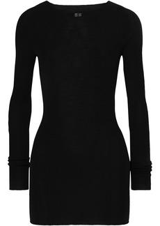 Rick Owens Woman Ribbed Wool Top Black