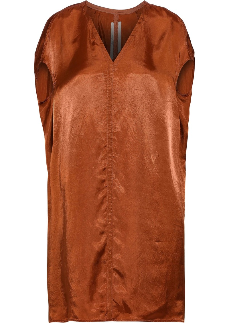 Rick Owens Woman Satin Top Tan