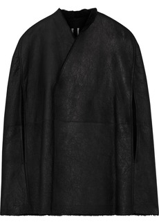 Rick Owens Woman Shearling Cape Black