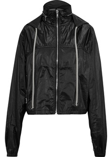 Rick Owens Woman Shell Hooded Bomber Jacket Black
