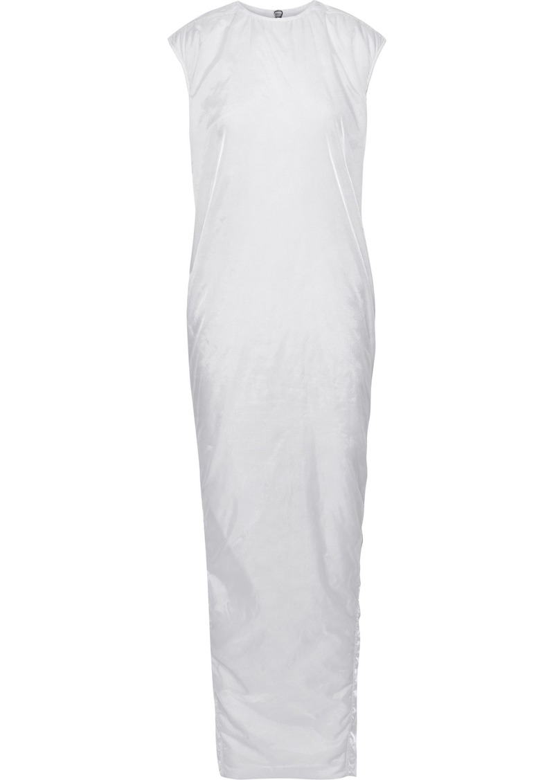 Rick Owens Woman Sisy Checked Shell Maxi Dress White