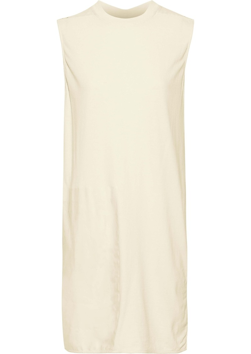Rick Owens Woman Sisytank Paneled Coated Cotton-jersey Tunic Ivory