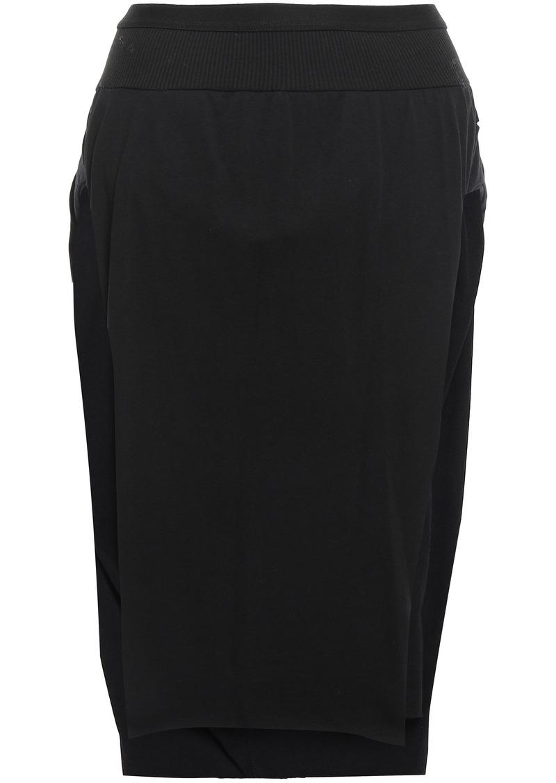 Rick Owens Woman Skirt-effect Cotton-jersey Shorts Black
