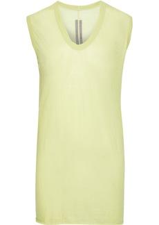 Rick Owens Woman Slub Cotton-jersey Top Light Green