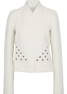 Rick Owens Woman Snap-detailed Cashmere-fleece Jacket Ivory