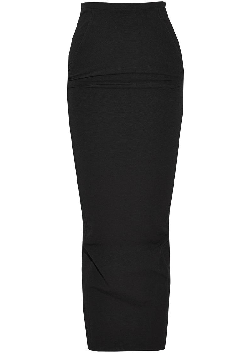Rick Owens Woman Split-back Cotton-blend Maxi Skirt Black