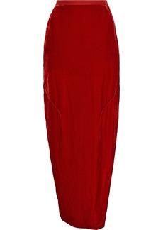 Rick Owens Woman Split-side Velvet Maxi Skirt Red