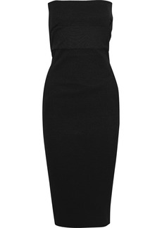 Rick Owens Woman Strapless Cotton-blend Midi Dress Black