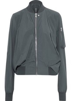 Rick Owens Woman Swoop Gathered Shell Bomber Jacket Anthracite