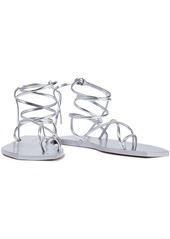 Rick Owens Woman Tangle Ii Metallic Leather Sandals Silver