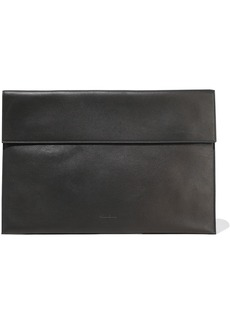Rick Owens Woman Textured-leather Laptop Case Black