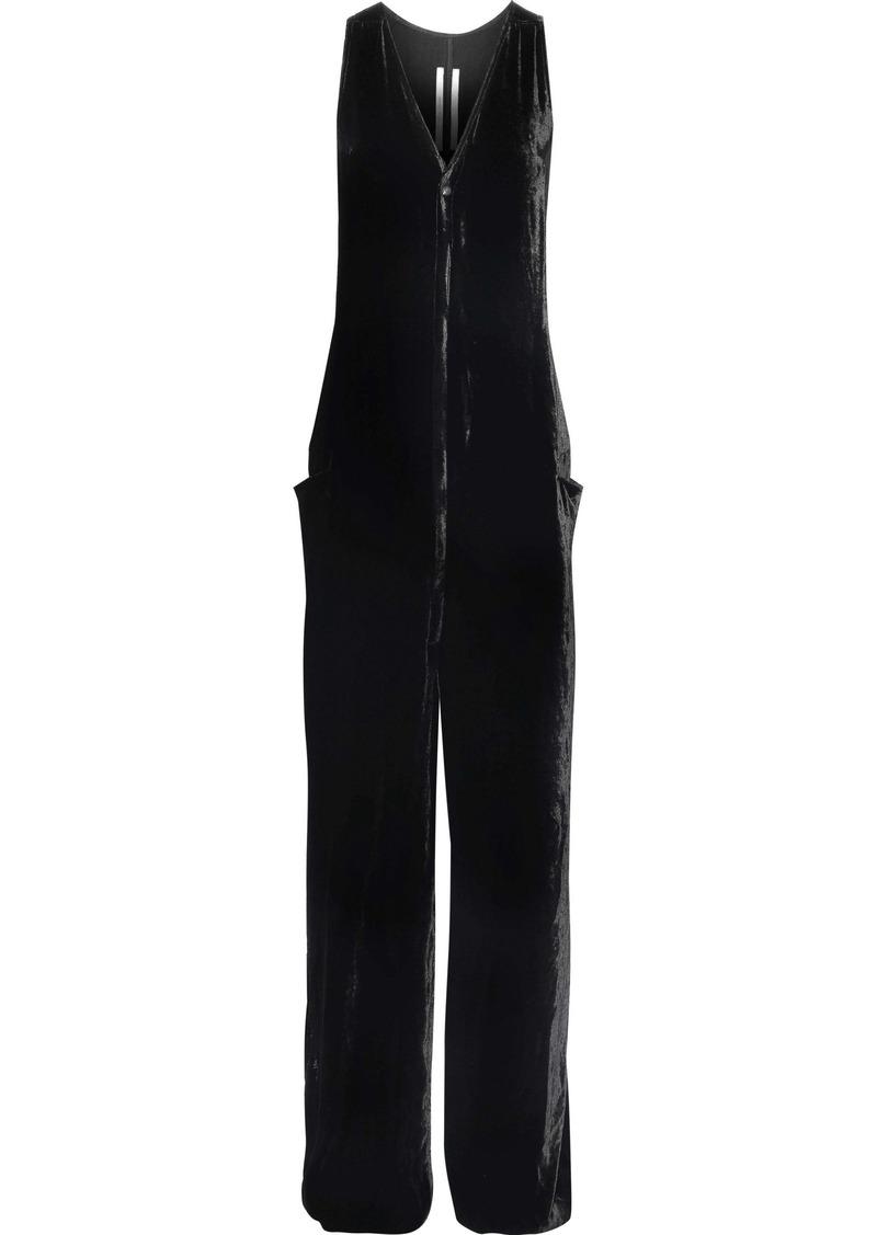 Rick Owens Woman Velvet Jumpsuit Black