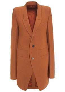Rick Owens Woman Wool-blend Crepe Blazer Tan