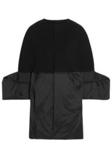 Rick Owens Woman Wool-blend Gabardine And Shell Coat Black
