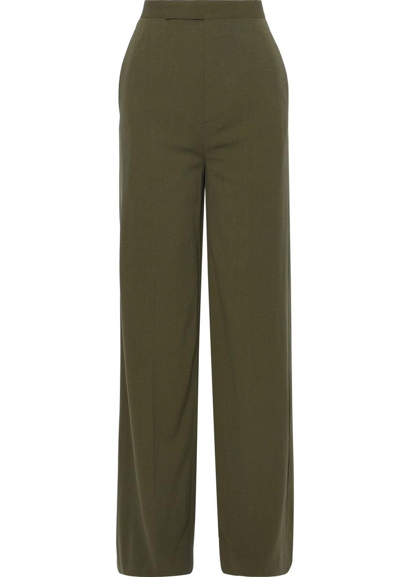 Rick Owens Woman Wool-crepe Wide-leg Pants Army Green