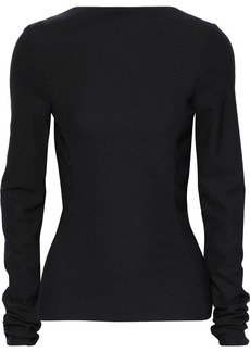 Rick Owens Woman Woven Top Black