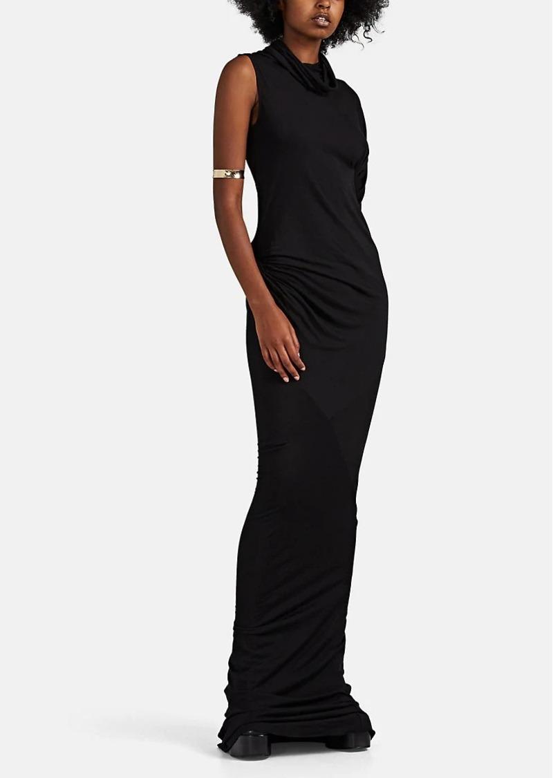 Rick Owens Women's Asymmetric Jersey Elongated Maxi Dress