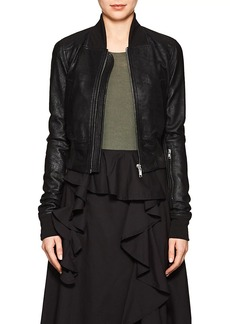 Rick Owens Women's Blistered Leather Bomber Jacket